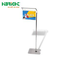 Verstellbarer Supermarket Metall Boden Typ Pop Banner Poster Display-Ständer