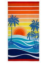 Telo da spiaggia extra large - bagno multi design 100% cotone Vacanze di foglio