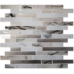 De Vervaardiging van China van de Bekledingen van de Muur van pvc van de schil en van de Stok voor Backsplash Keuken, Badkamers, Open haard, Trap, TV, Countertop Decoratie DIY