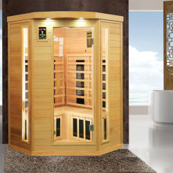 Salle de Sauna sec à infrarouge lointain de pure en bois de pruche du Canada, de soins personnels Log Cabin que la beauté de l'équipement