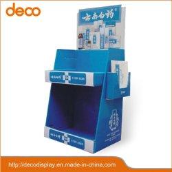 Dos estantes cartón Contador Expositor Expositor de productos médicos mostrar