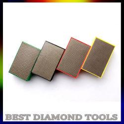 花こう岩の大理石のEngineeredstoneのガラスカウンタートップのためのダイヤモンドのスポンジ手の磨くパッド