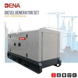 100kVA 200kVA e 300 kVA canópia insonorizada arrefecido a água do conjunto de geradores de energia elétrica 3 Alternador trifásico