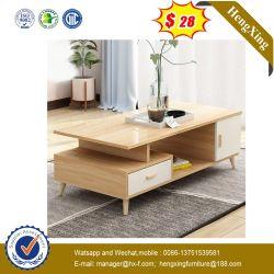 TV simple trépied de sol en bois Meubles de salle de séjour en verre (IMG-5817)