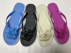 Belemmeringen van de Pantoffels van Sandals van de Bloem van pvc van vrouwen de Toevallige (fqf-35)