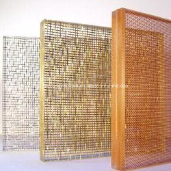 Dekoratives Edelstahl-Metalldraht-Ineinander greifen-Sicherheits-Glas