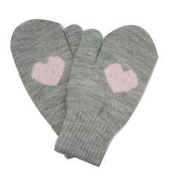 Bambini Inverno caldo Moda maglia cuore Jacquard Magic Glove con Rivestimento in pile