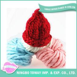 Mejor en línea de tapas invierno gorros de lana tejido damas para la venta