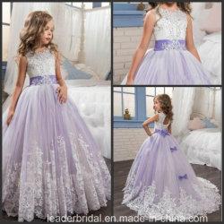 Vestito viola F20158 dalla ragazza di fiore di cerimonia nuziale dell'abito convenzionale delle ragazze del merletto