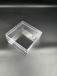 Forme carrée de l'emballage en plastique transparent boîte avec des coins ronds