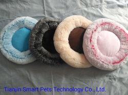 Pet ronde lits de luxe en cuir de luxe de Design de mode chat chien Canapé-lit