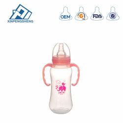 Breit-Stutzen Milchflasche-Silikon-mehrfachverwendbare Baby-Milchflaschen, Nahrungsmittelgrad-Silikon-Baby-Flasche mit Flaschen-Deckel