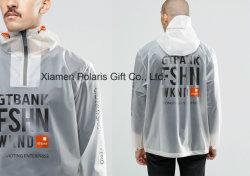 Poliuretano Unisex Semi-Sheer EVA PU impermeable impermeable con bandera de aro