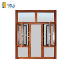 Le bois d'inclinaison de composites en aluminium&tourner Windows