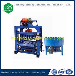 Ziegeleimaschine der niedrigen Kosten-Qtj4-40 Kleinlehm-Ziegeleimaschine-Ziegeleimaschine konkrete Kleber-Block-Maschine