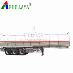 Dell'Tri-Asse 60m3 del combustibile di trasporto acciaio inossidabile del rimorchio del serbatoio semi