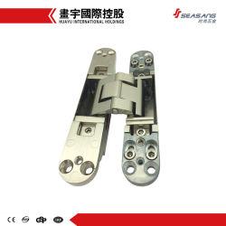 Alliage de zinc réglable 3D&dissimulé des charnières de porte en aluminium Tectus invisible pour les charnières de porte en bois, acier, les profilés en aluminium