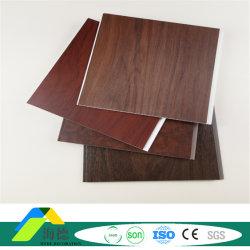 250mm 폭 고품질 도매 나무 플라스틱 PVC 패널 천장 패널 라미네이트 벽면 패널 건물 소재