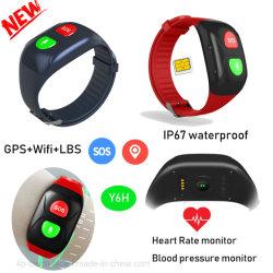 IP67wateproof Slimme GPS van het Horloge Drijver Wirstband met de Monitor van het Tarief van het Hart Y6h