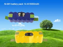 بطارية نيكل Ni-MH بقدرة 14,4 فولت بقوة 3000 مللي أمبير/ساعة لـ iRobot Roomba 510 500 520 530 535 540 550 555 560 562 563 570 580