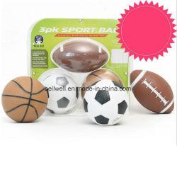 子供の小型サッカーのバスケットボールのラグビーのスポーツの球セット