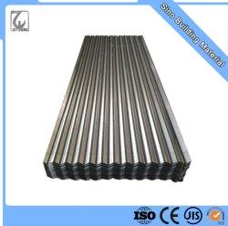Matériau de construction en acier ondulé en métal galvanisé tôle de toit