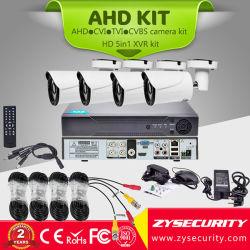 Sistema di sorveglianza della macchina fotografica del CCTV, kit Analog della macchina fotografica del richiamo 4in1 di HD 4CH 720p Ahd Tvi Cvi