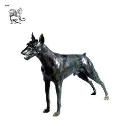 La pequeña estatua de bronce Animal decorativos Basc-01
