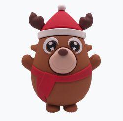 Cadeau de Noël Banque d'alimentation Mobile pour Cartoon sortie USB Powerbank batterie externe portable