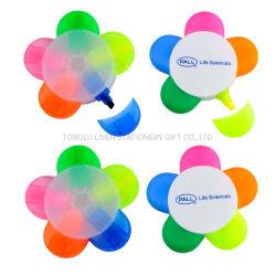Farben-Blumen-Spaß-fördernder Leuchtmarker des Fabrik-Preis-fünf