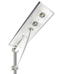 70watts Outdoor haute Lumen Rue lumière LED de lumière solaire avec lampes de rafles