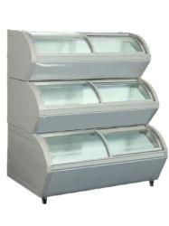 Green-santé de la crème glacée congélateur d'affichage commercial pour les aliments surgelés