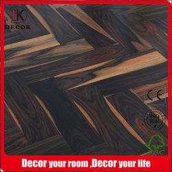 Glattes Natur-Farben-Herringbone schwarzes Rosenholz ausgeführter Bodenbelag