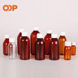Frasco de xarope de plástico PET Medicina garrafas de líquidos