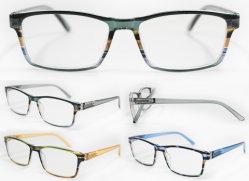 متجر البيع بالجملة مربع الجودة كمبيوتر مصمم نظارات قراءة الربيع معبد الموضة نظارات للقراءة (WRP8070127)