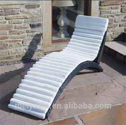 По-французски пластиковые сад двойной Sun шезлонге кровать с навесом в бассейн
