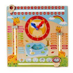 يعلم تربويّ لعب رسم متحرّك [مولتي-فونكأيشن] خشبيّة تقويم ساعة طقس [بوأرد غم] لأنّ أطفال لعبة خشبيّة لأنّ جديات