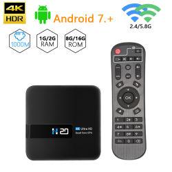 H20 Set Top Box 1g+8g Rk3228A Quad Core Android 10 Caja de TV Smart IPTV con Wi-Fi OS 4K