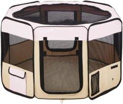 ピンクの携帯用折りたたみ式ペット用プレイペン練習ペンのケンネル + 携帯用 大きい犬のための場合小さい子犬 / 猫屋内 / 屋外使用防水