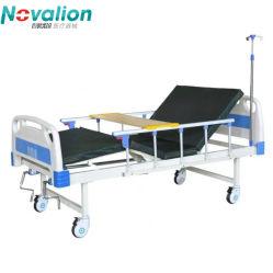 医療 / 患者 / 看護 / Fowler / ICU ベッドメーカー ABS マットレス付き手動病院用ベッド 2 台、 I.V ポール