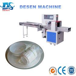 Oreiller de matériaux de construction de l'emballage machine de conditionnement de débit du tuyau de la machine avec 3 moteur servo