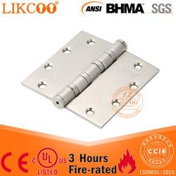 아래로 고품질 금속 겹 산업 녹슬지 않는 스테인리스 무거운 4 품는 금속 UL&Ce 문 경첩 (SS002)