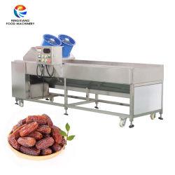 Industriële Automatische het Borstelen Brusher van de Gedroogde pruim van Jujubie van de Datum van het Knoflook van het Fruit Droge Schoonmakende Machine