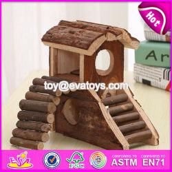Nuevos productos para interiores casas de madera de carácter gracioso Pet Hamster Casa W06F018