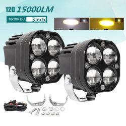 مصباح الضباب الموضعي بقوة 120 واط مقاس 3 بوصات، يعمل مصباح LED مربع بجهد 12 فولت مصباح الشاحنة ذات الدفع الرباعي على الطرق الوعرة