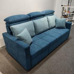 Xuya 현대적인 L자 모양의 Sectional 소파 침대 유럽 스타일 패브릭 소파 접이식 소파 거실과 거실을 위한 보관함