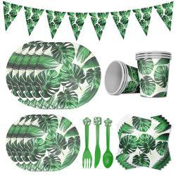 Hawaiian Palm Leaf vaisselle jetable de l'été partie de la plaque de papier tasses Événement d'Anniversaire de Mariage Tropical serviette Parti de fournitures de décoration
