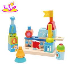 Pour l'éducation des enfants des villes créatives des blocs de construction des bâtiments les jouets en bois pour les enfants W13A139