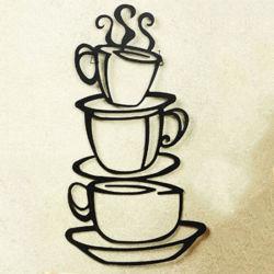 주문을 받아서 만들어진 금속은 가정 훈장 커피 작풍 벽 예술을 만든다