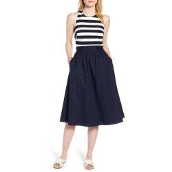 Banda náuticas señoras la moda Sexy Halter Backless Chic Dress